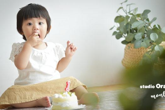 宝塚市 お誕生日撮影 スマッシュケーキ