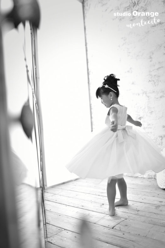 伊丹 七五三 7歳 水色のドレス