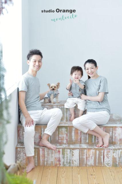 宝塚 1歳 家族写真 バースデーフォト 犬 ペットフォト ヨークシャテリア