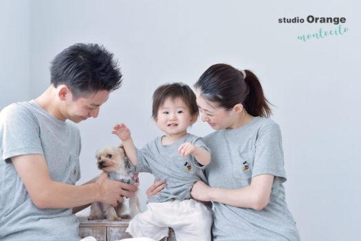 宝塚 1歳 家族写真 バースデーフォト 犬 ペット