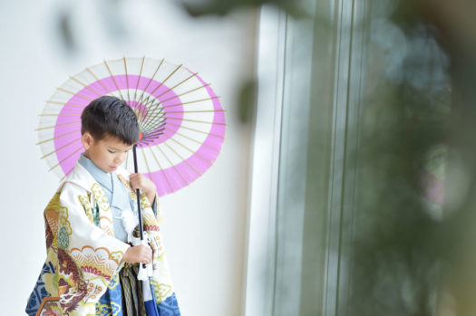 池田 七五三 自然な写真
