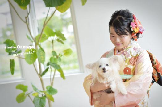 兵庫 宝塚 成人式 犬と撮れる写真館
