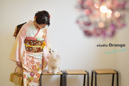 宝塚 犬と撮れる写真館 成人式 ペットフォト