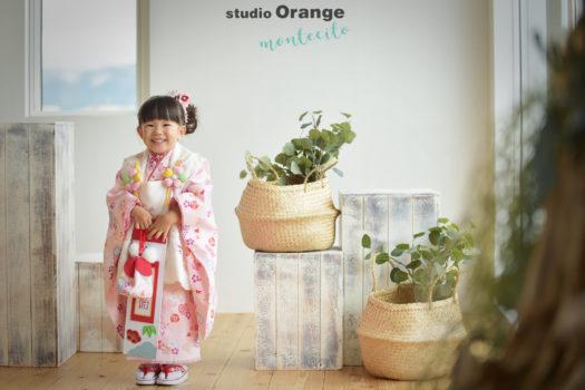 武庫之荘 七五三 3歳 ピンクの被布