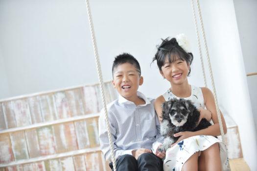 10歳記念 ハーフ成人式 犬 ミニチュアシュナウザー