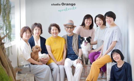 家族写真 年賀状 犬