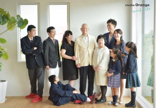 宝塚市 長寿の祝い 古稀 家族写真