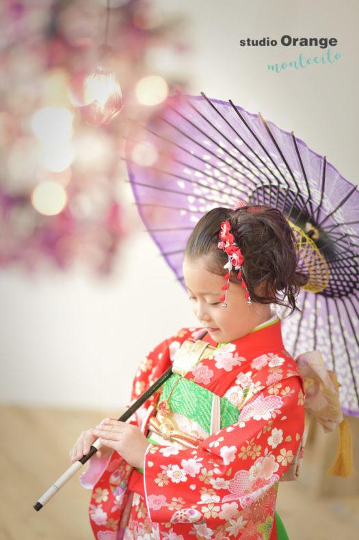 宝塚市 七五三 7歳 赤の着物