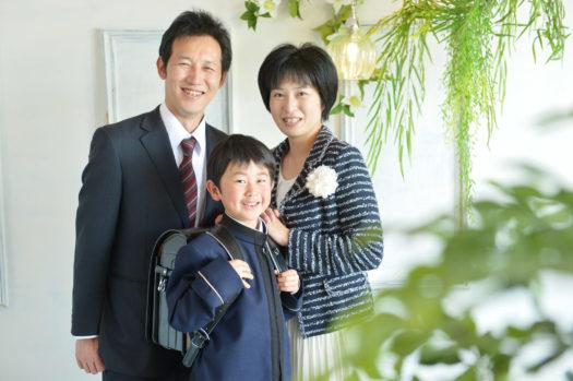 宝塚市 入学式 家族写真