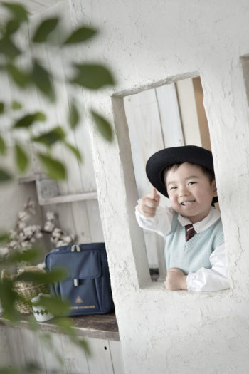 池田市 入園記念 制服撮影 男の子