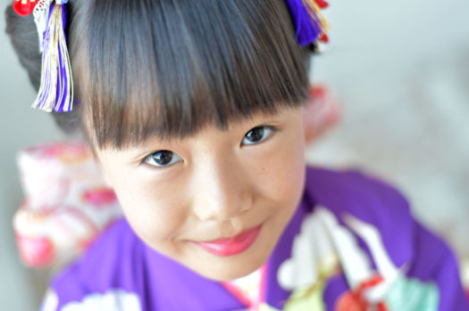 川西 七五三 7歳女の子 モダン着物
