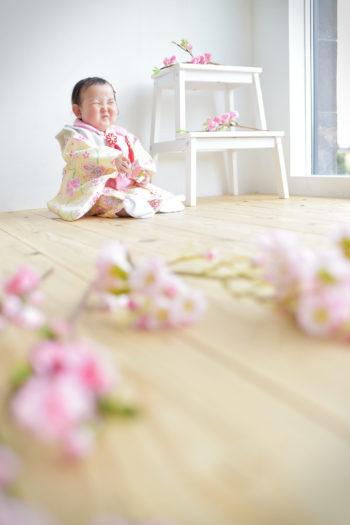 宝塚市 雛祭り 女の子 黄色の被布