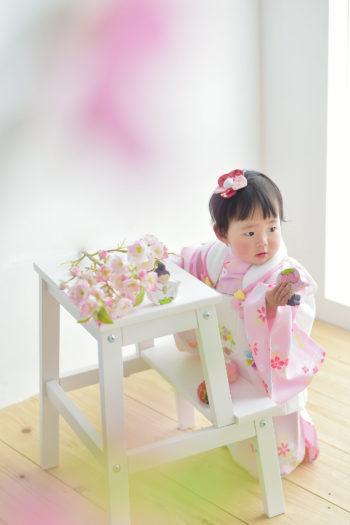 川西市 ひな祭り 女の子 ピンクの被布