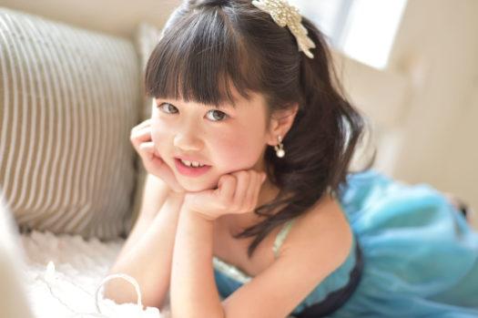 宝塚市 七五三 7歳女の子 スタジオドレス