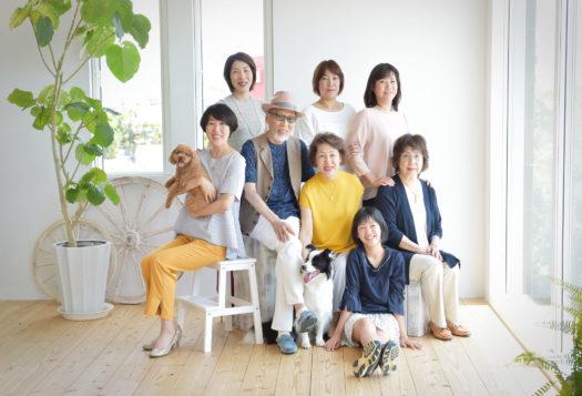 宝塚 家族写真 ファミリーフォト コリー トイプードル 犬と一緒に撮影