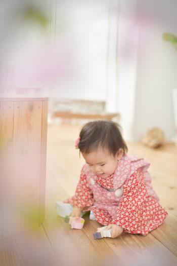 宝塚市 桃の節句 ピンクの着物
