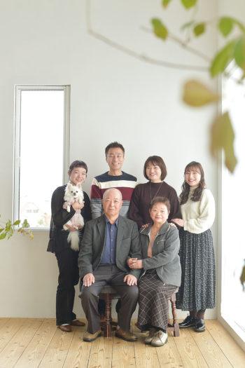 宝塚市 家族写真 犬と撮影