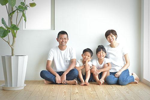 七五三 私服家族写真 ナチュラル シンプル