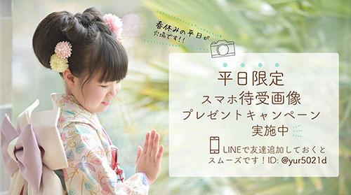 七五三 待受画像プレゼント 春休み