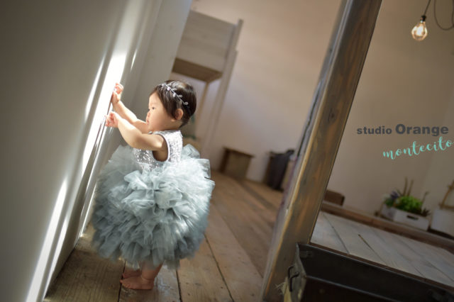 1歳 バースデーフォト ドレス プロ撮影