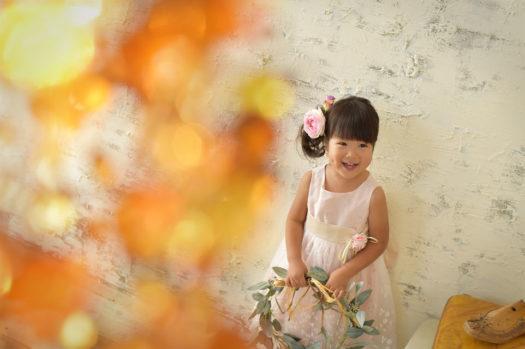七五三 3歳 ドレス 自然な笑顔