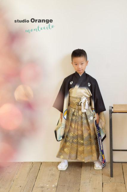 七五三 宝塚市 黒の着物