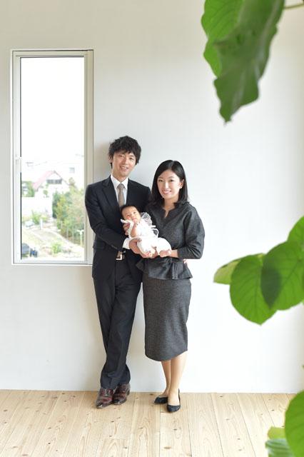 お宮参り 宝塚市 家族写真 オシャレ