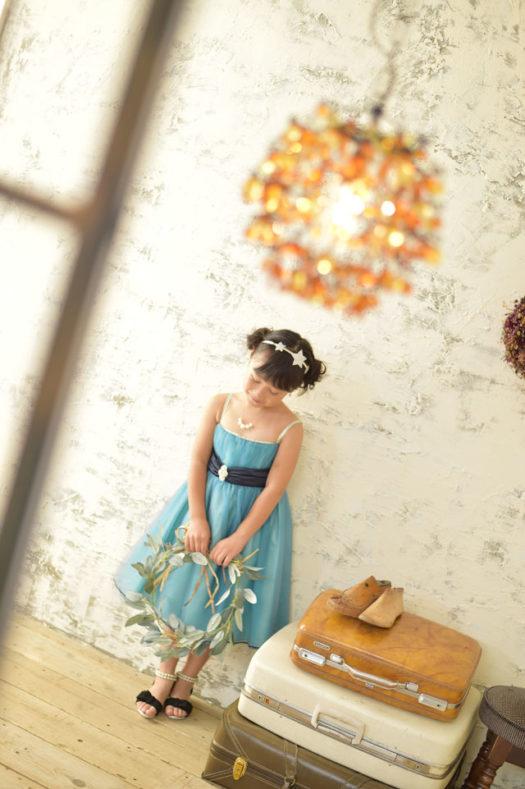 宝塚市 七五三 7歳 水色のドレス