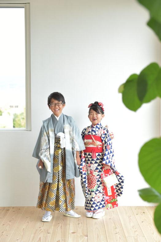 宝塚市 七五三前撮り 7歳 モダン着物