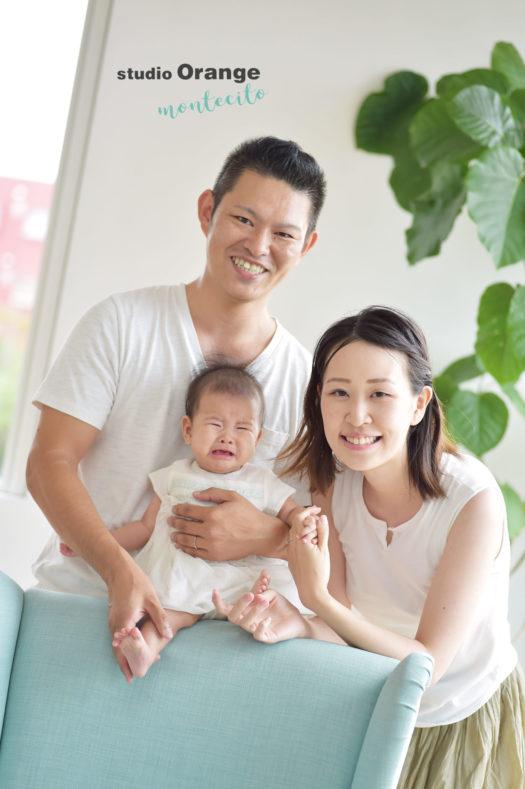 宝塚 お宮参り ナチュラルフォト 家族写真