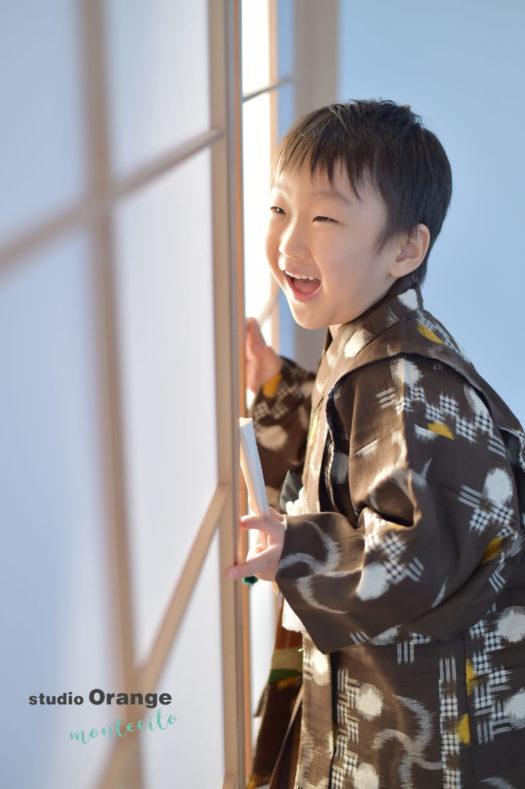 宝塚 七五三 5歳男の子 持ち込み着物