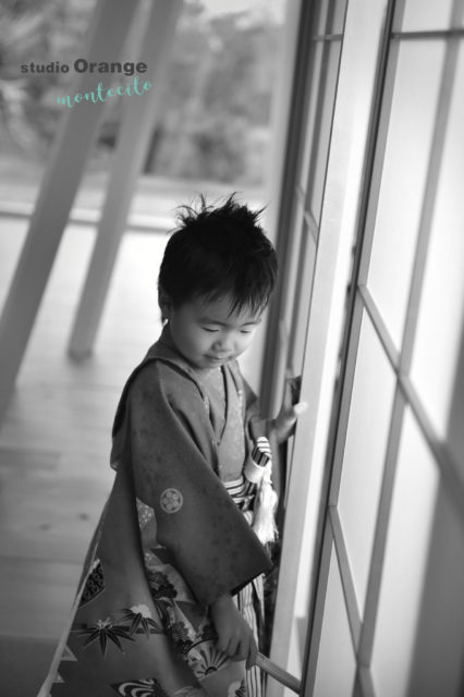 川西市 七五三 5歳 男の子 茶色の着物