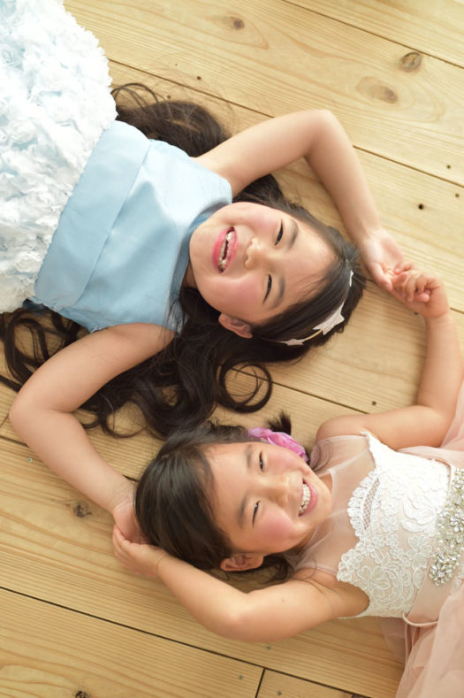 宝塚市 七五三 7歳 洋装 姉妹写真