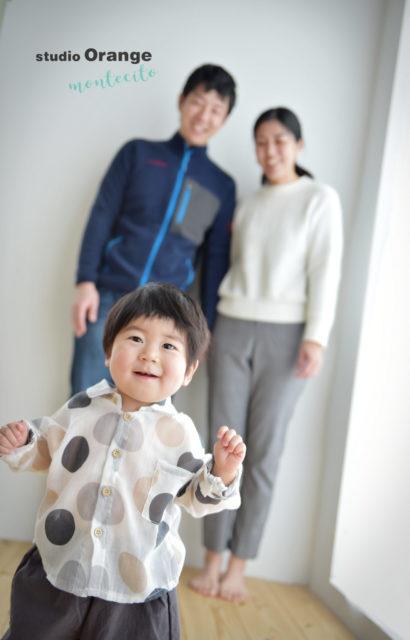 吹田市 バースデーフォト 1歳男の子 家族写真