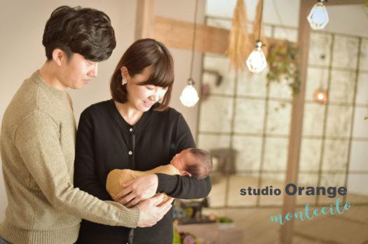 宝塚市 ニューボーンフォト 新生児フォト 家族写真
