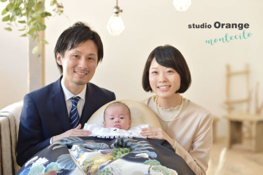 大阪市 お宮参り お礼参り 家族写真 ナチュラルフォト
