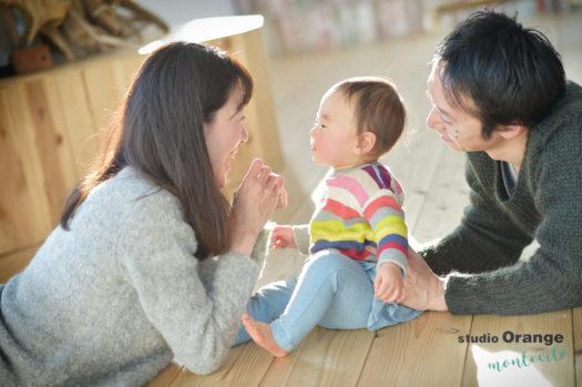 宝塚市 バースデーフォト 1歳 女の子 家族写真