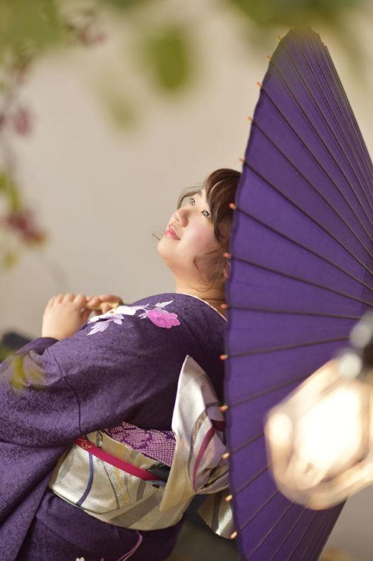 宝塚市 成人式 紫の振袖