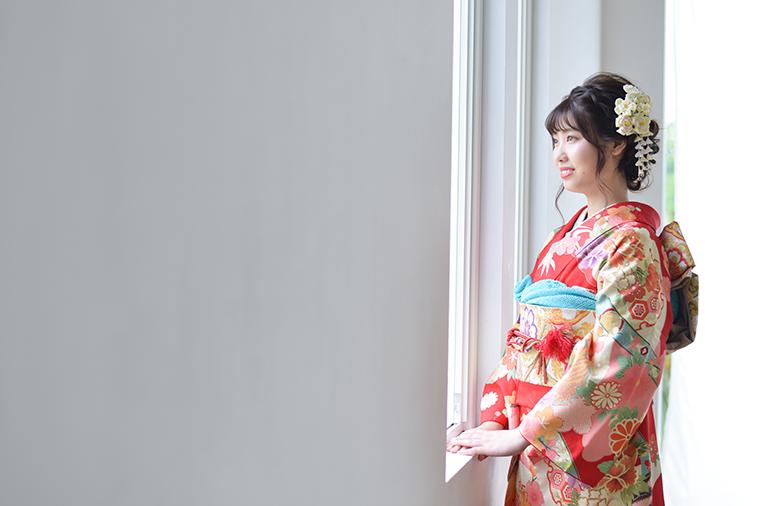 宝塚市 成人式 赤の振袖