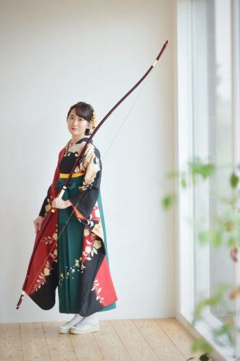伊丹市 成人式袴 弓道 弓持ち込み