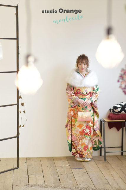 兵庫県 成人式前撮り 後撮り 翠の振袖