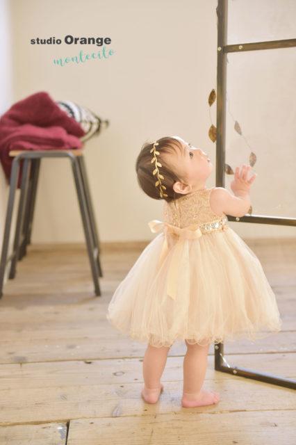 西宮市 お誕生日撮影 1歳 ドレス