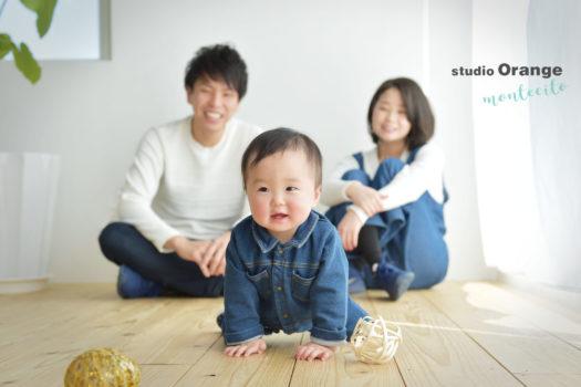 伊丹市 バースデーフォト 1歳 家族写真