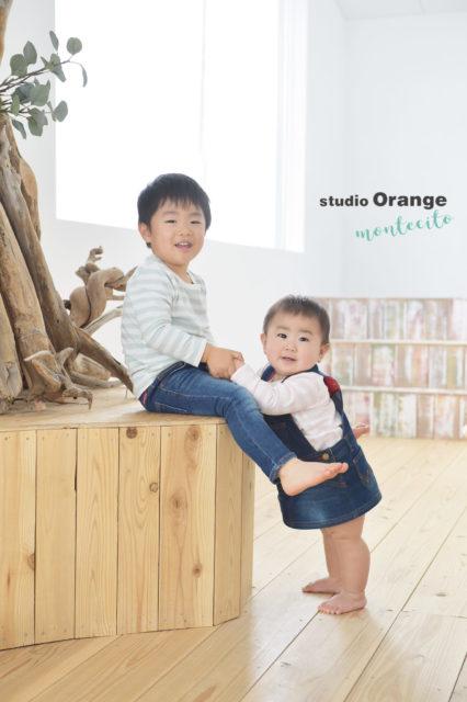 川西市 お誕生日 1歳 兄弟写真