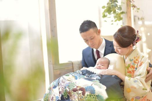 豊中市 お宮参り 家族写真