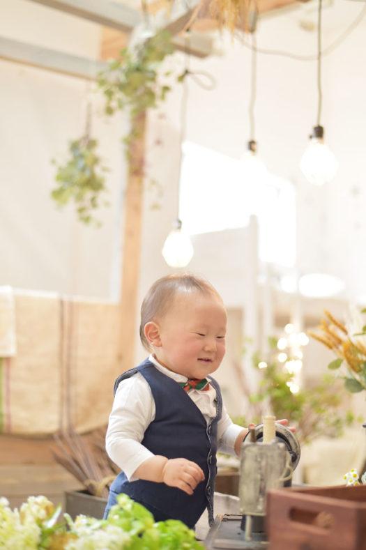 川西市 バースデーフォト 1歳 男の子 スタジオ衣装