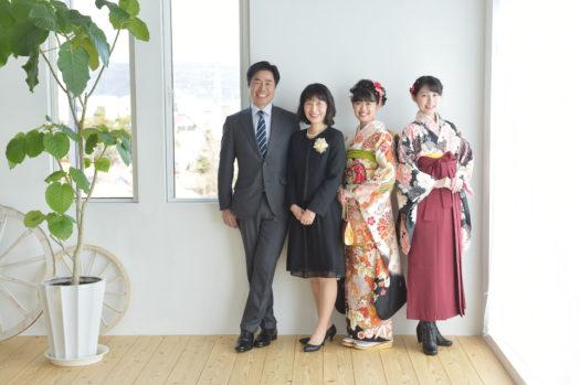 池田市 成人式 振袖 成人式前撮り 家族写真