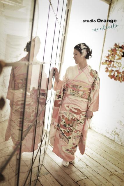 宝塚市 成人式 ピンクの振袖