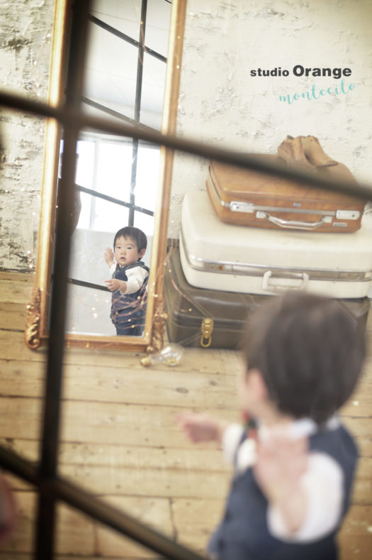 伊丹市 バースデーフォト 洋装 1歳 男の子