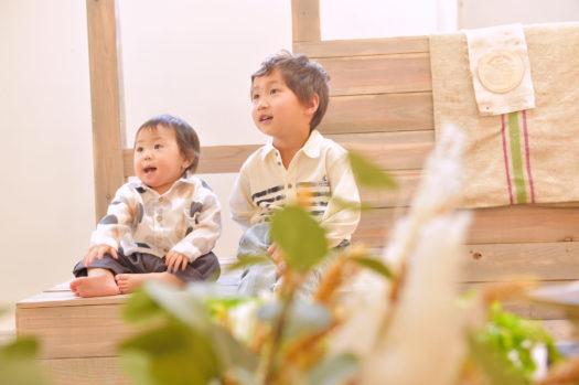 宝塚市 バースデー 兄弟写真